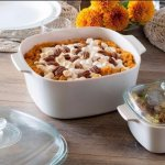 CorningWare® Stovetop™ Pyroceram®  Just White 4-pc Casserole Set