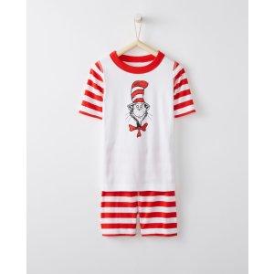 Dr. Seuss Short John Pajamas In Organic Cotton