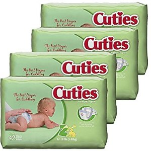 $16.48Cuties Baby Diapers, Size 2, 42-Count, Pack of 4