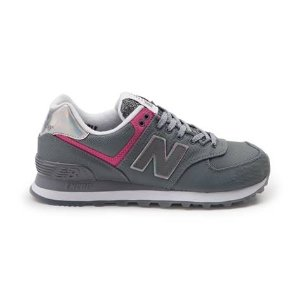 $39Womens New Balance 574 Athletic Shoe Gray/Pink