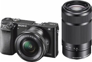 $699.99Sony - Alpha a6000 Mirrorless Camera with 16-50mm and 55-210mm Lenses - Black