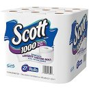 $14.02 Scott 1000 Sheets Per Roll Toilet Paper, Bath Tissue, 27 Rolls