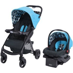 $99Graco Verb Click Connect Travel System, with SnugRide Click Connect 30 Infant Car Seat, Motif