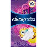 $17Always Radiant Regular Feminine Pads with Wings, Scented, 30 Count - Pack of 3 (90 Total Count)