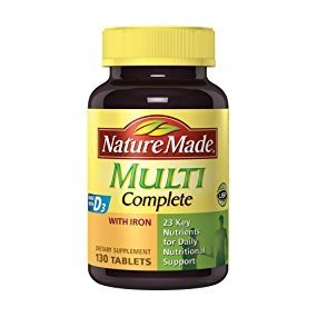 $4.31Nature Made Multi Complete with Iron 130 Tablets @ Amazon