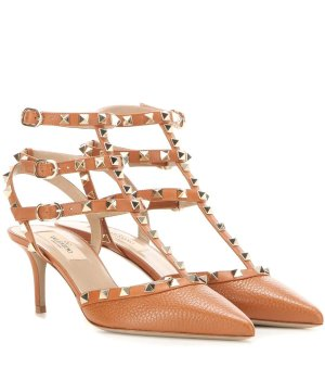 $752Valentino Garavani Rockstud leather kitten-heel pumps