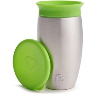 $11.75Munchkin Miracle Stainless Steel 360 Sippy Cup, 10 oz, Green, BPA Free