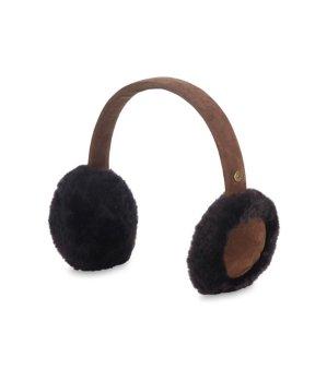 $38.99(原价$80)UGG 黑棕拼色毛毛耳罩