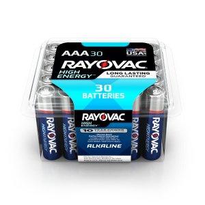 $5.48Rayovac High Energy Alkaline AAA/1.5 Volt Battery (30-Pack)