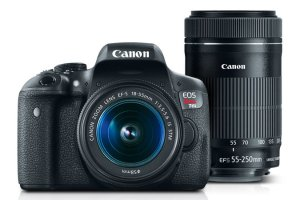 $560Canon EOS Rebel T6i + 18-55mm & 55-250mm Refurbished