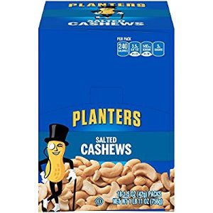 $11.04Planters Cashews, Salted, 1.5 Ounce Single Serve Bag (Pack of 18)
