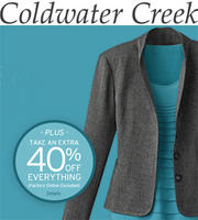 Extra 40%Already Reduced Styles+ $30 Off $100 @ Coldwater Creek