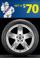 Free$70 Prepaid Mastercard with 4 Michelin tires