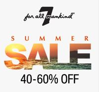 40% to 60% Off + Extra 15% OffSale Items @ 7 For All Mankind Summer Sale