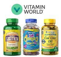 Buy 1 Get 1 Free + Extra $25 off $70 Vitamin World Brand Items