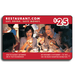 80% Off Gift CertificateRestaurant.com Coupon