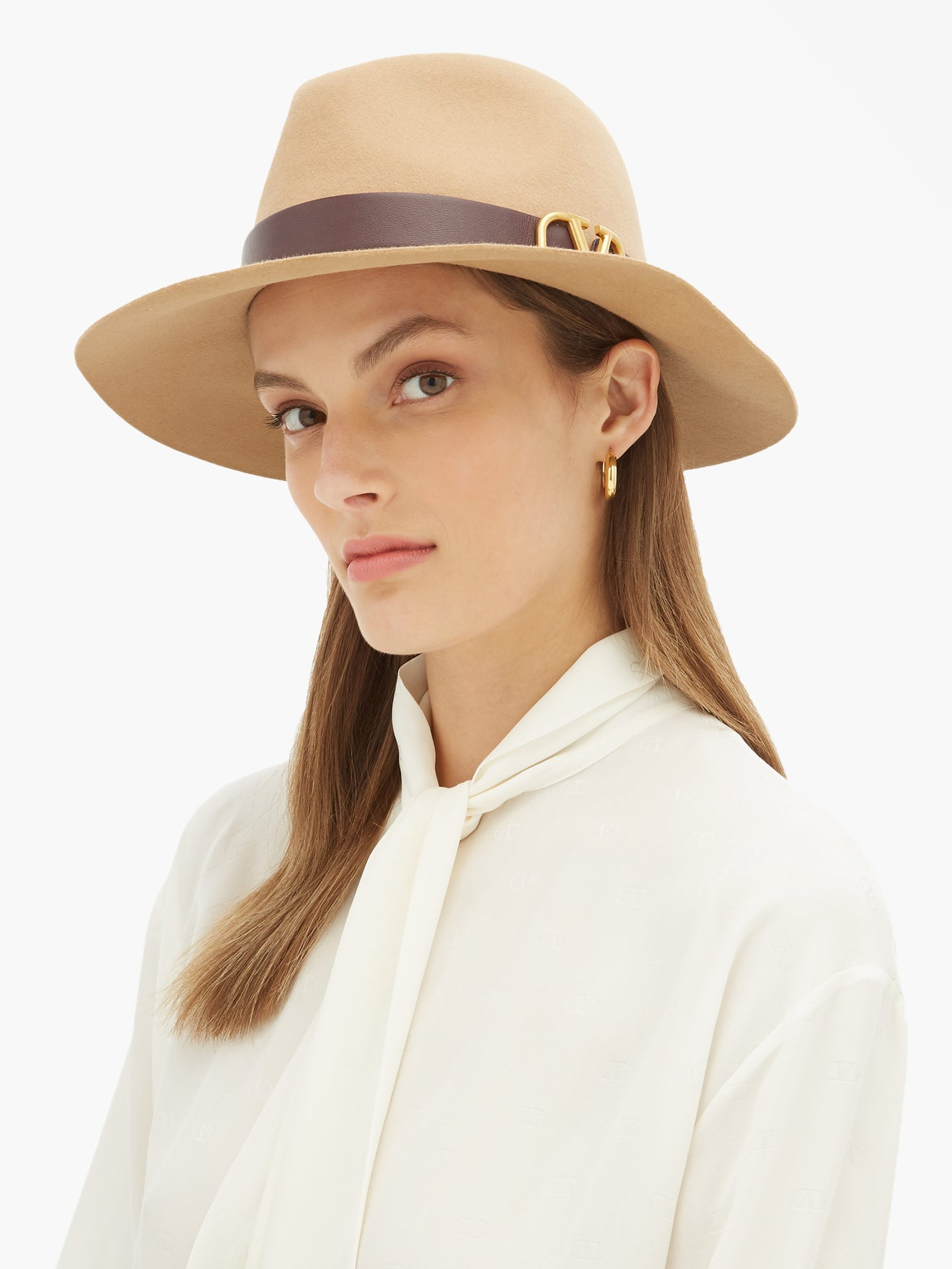 V-logo felt fedora hat | Valentino | MATCHESFASHION US