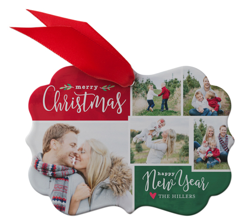 Rustic Merry Christmas Tree Metal Ornament | Christmas Ornaments | Shutterfly