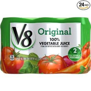 $8.30V8 100% 纯天然综合蔬菜汁 11.5盎司 24瓶