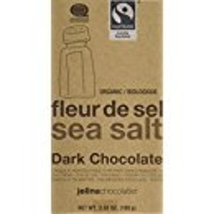 Jelina Chocolatier Sea Salt Dark Chocolate Bar 72%