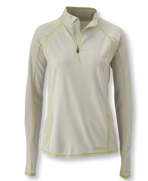 $16Women's Polartec Power Dry Stretch Base Layer, Lightweight Quarter-Zip
