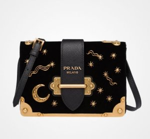 1aa3aa92f7a8 Prada Small Velvet Astrology Cahier Bag @ Saks Fifth Avenue Hot Pick ...