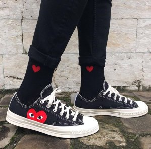 cdg converse low mens