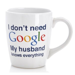 My Husband Knows Everything, 22oz Novelty Mug