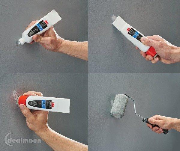 如何修补墙面上的钉孔、刮痕等