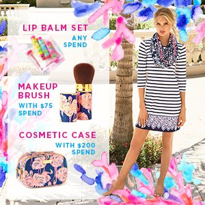 Last Day! Free Gift!With Any Purchase @ Lilly Pulitzer Dealmoon Singles Day exclusive!
