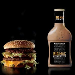 Free Bottles of Big Mac Sauce@ McDonald's