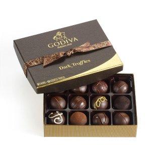 24 pc. Dark Chocolate Truffles | GODIVA