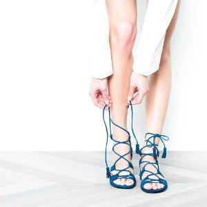 别嫌麻烦,变美比较重要。夏季必备绑带鞋,总有一双是你要的!