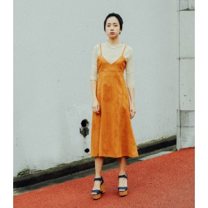 SLY 土橘色吊带裙