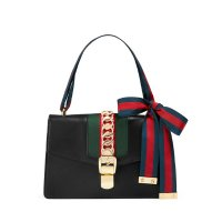 Gucci Sylvie Grosgrain-Striped Shoulder Bag