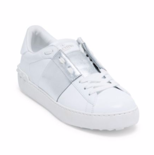 Valentino Open Low-Top Leather Sneakers