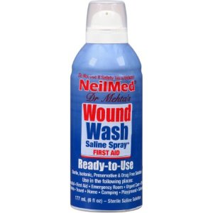 NeilMed Wound Wash Saline Spray, 6 fl oz