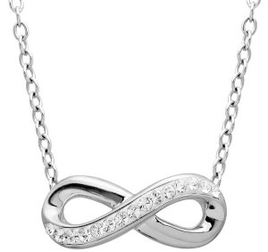 $19Infinity Necklace with Swarovski Crystals