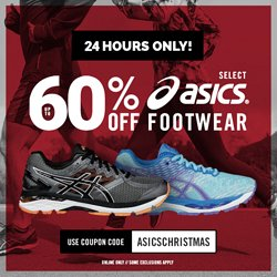 Up to 60% Off + Extra 20% OffOn Selected Asics Running Shoes @ JackRabbit