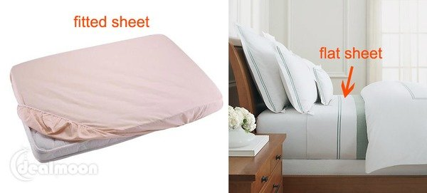 Fitted Sheet vs Flat Sheet 床笠 vs 床单