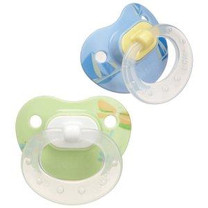 2 Pack NUK Silicone BPA Free Orthodontic Unisex 0-6M Newborn Baby Pacifier