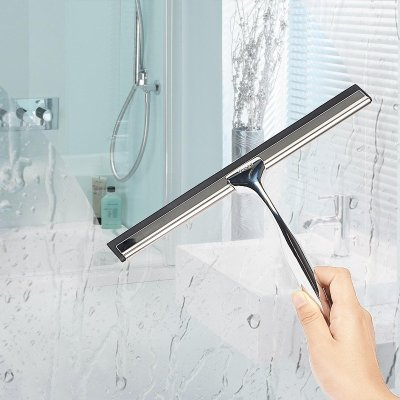 Veego Shower Squeegee, Stainless Steel Squeegee for Bathroom Mirror ...