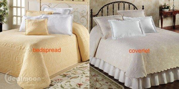 bedspread vs coverlet