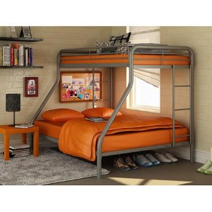 $149 Dorel Twin-Over-Full Metal Bunk Bed
