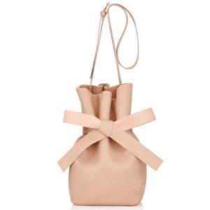 $648(原价$1295)Jimmy Choo 裸粉色羊皮桶包