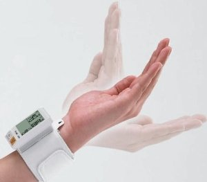 $29Portable Wrist Blood Pressure Monitor with Body Movement Detection - EW-BW10W