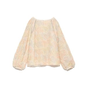 Lily Brown 刺绣泡泡袖上衣
