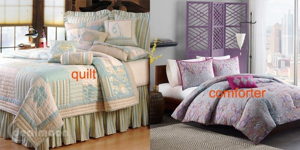 Qult vs Comforter 绗缝被 和 棉被