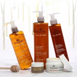 5 Free Minis + Beauty Pouchwith $50 Order @Nuxe