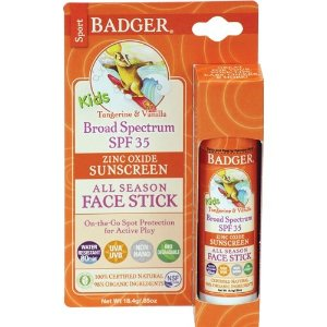 Badger Balm Kids Face Stick, 香草橙味, 0.65 oz